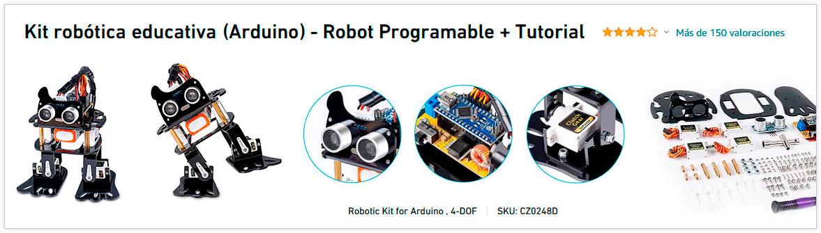 Kit de robótica educativa para construir un robot